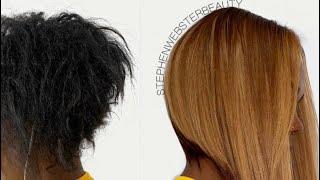 Black To Blonde Angled Bob