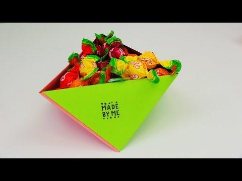 Origami DIY Aufbewahrungsbox für Bonbons und Co.! Behälter aus Papier falten Anleitung | deutsch