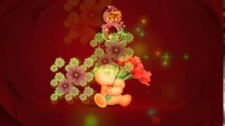 Футаж Цветочный салют HD Footage Valentine Day