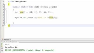68. One Dimensional Array Example in Java Programming (Hindi)