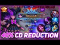 LYLIA QUICK SAVAGE with MAX COOLDOWN REDUCTION BUILD Mobile Legends