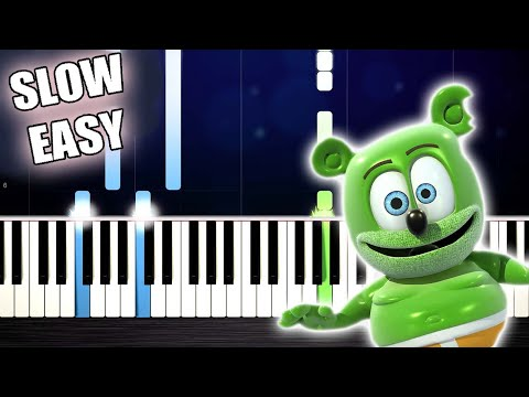 The Gummy Bear Song - SLOW EASY Piano Tutorial by PlutaX