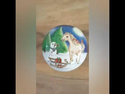 Weihnachtskugel Ø 8 cm No.1 - Nostalgische Geschenkverpackung aus Pappe zum Befüllen