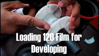 How to EASILY Load a Roll of 120 Film for Developing in a Paterson Tank.