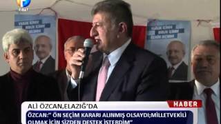 preview picture of video 'Kanal Fırat Haber - Ali Özcan Elazığ'da'