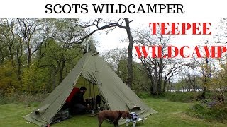 10 Man Teepee Helsport Varanger And Bushcraft Woodgas Stove Scotland Loch Achray Trossachs.