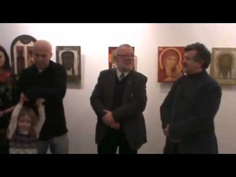 3-го січня у галереї «Бункермуз» відкрили виставку сучасних ікон «Святі Волині» - YouTube