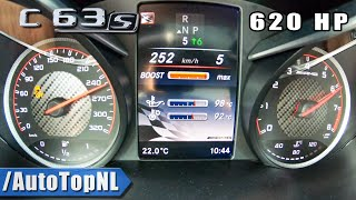 620HP C63 S AMG Elmerhaus 100-200km/h DRAGY GPS Performance by AutoTopNL