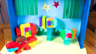 How to Make a LEGO DUPLO Aquarium with LEGO Fish! Easy LEGO Home Activity Ideas for Parents & Kids