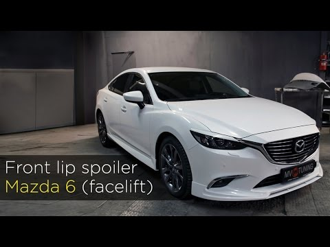 Front lip spoiler by MV-TUNING for Mazda 6 Facelift (Installation Instruction).