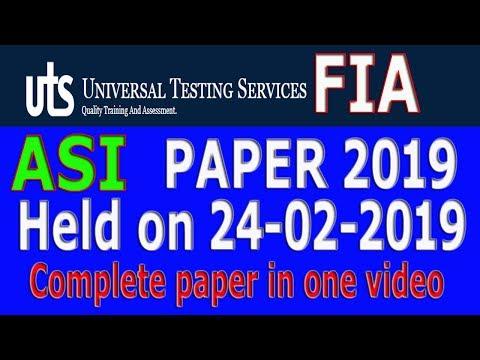Past papers fia jobs preparation | fia test preparation fpsc | uts