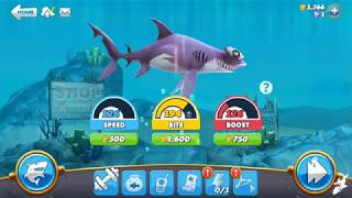 Upgrade to the smooth hammerhead sharks, hungry shark world video 52