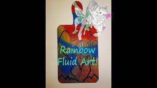 Rainbow Fluid art (Pulse Night Club tribute)