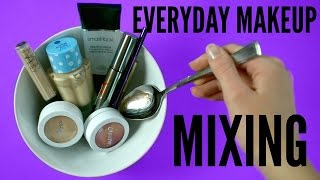 MIXING everyday Makeup Products - Smashbox, Colourpop, Nars, Too Faced | pastella 28 - Video Youtube