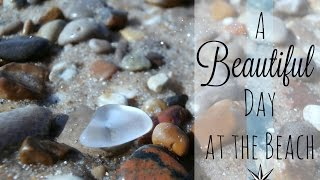 Blue Stones and Other Mermaid Treasures on a Northern Michigan Beach   #PureMichigan