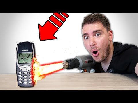 PISTOLA TERMICA vs NOKIA 3310 - INCREDIBILE!