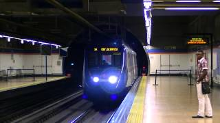 preview picture of video 'Metro de Madrid 9781 llegando a Coslada Central'
