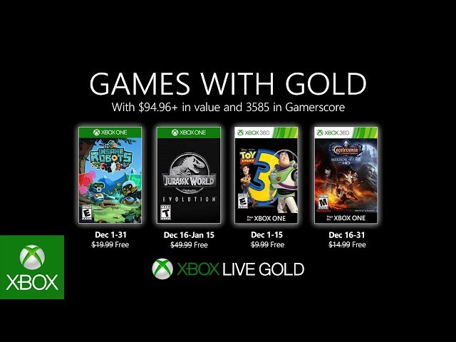 Games With Gold November 2020.Xbox Free Games With Gold For December 2019 Jurassic World Evo