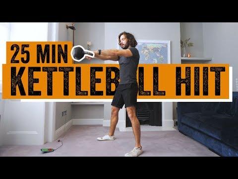 25 minutter hjemmetrening med Kettlebell