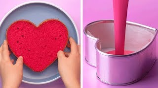 My Favorite Heart Cake Decorating Ideas   So Yummy Cake Decorating Tutorial   Tasty Plus Cake