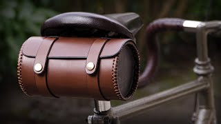 Round Leather Bicycle Bag DIY