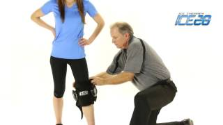 Video: ICE20 Double Knee Compression Ice Pack Wrap