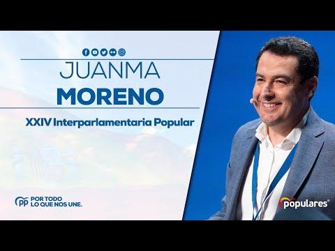 Juanma Moreno en la XXIV Interparlamentaria Popular
