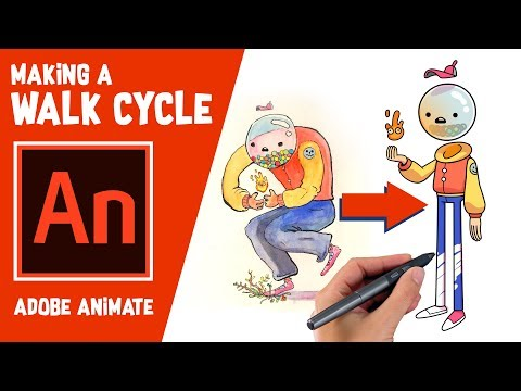 2d walk cycle animation using adobe animate tutorial by bam animation
