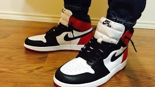 Air Jordan Retro 1 OG Black Toe Unbox Review Showing Different Outfits On Feet