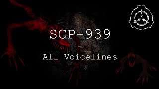SCP-939 | All Voicelines with Sutbtitles | SCP - Containment Breach (v1.3.11)