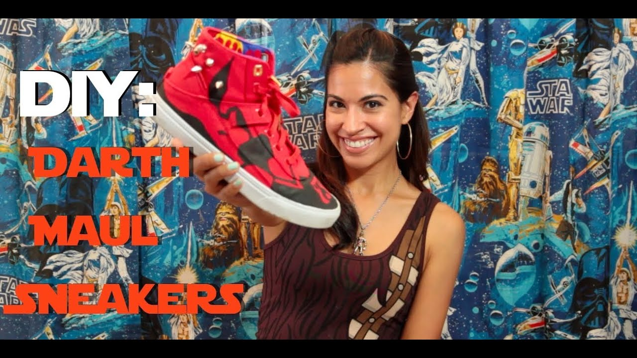 DIY Darth Maul Sneakers