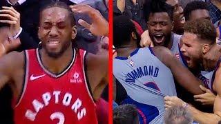 Kawhi Leonard Turnover, Reggie Bullock GAME-WINNER | Raptors vs Pistons | November 14, 2018