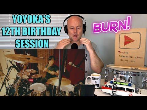 Drum Teacher Reacts: Deep Purple - Burn / YOYOKA's 12th Birthday Session