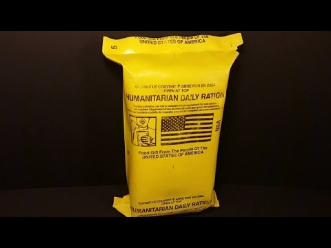 2000 Humanitarian Daily Ration 24hr MRE Review Yellow HDR Foreign Aid Food Taste Test Survival Meal