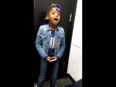 Child singer Shayla Ricki does vocal warm up!