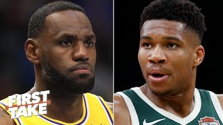LeBron or Giannis: Who is leading the NBA MVP race? | First Take
