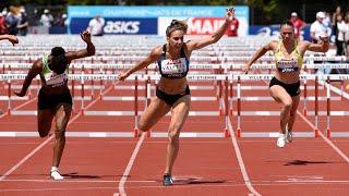 Saint-Etienne 2019 : Finale 100 m haies (Laura Valette en 12''87)