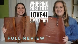 The Best Totes Compared   FULL REVIEW (Whipping Post Tote Vs. Love41 Simple Tote)