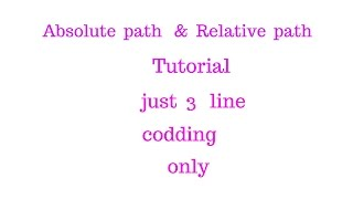 24 relative path tutorial using php absolute url