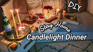Our #StayHome Anniversary Dinner VLOG | DIY Candlelight Dinner Table Decor
