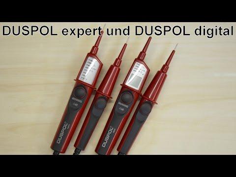 """zweipolige Spannungsprüfer - """"DUSPOL digital"""" und """"DUSPOL expert"""" im Vergleich"""