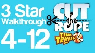 Cut The Rope Time Travel 4 12   3 Star Walkthrough Ancient Egypt Level 4 12   WikiGameGuides