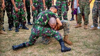 U.S. Marines Soldiers Training With Indonesian Marines   U.S. Marines In Indonesia
