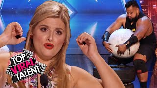 OMG!! One Of These STRONGMEN DO THE UNEXPECTED! The Judges Can't Believe it!