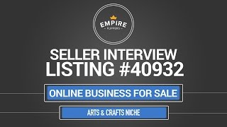 Online Business For Sale - $2.9k/month In The Arts & Crafts Niche