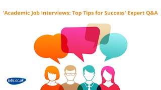 'Academic Job Interviews: Top Tips For Success' Jobs.ac.uk Hangout On Air   Full Length