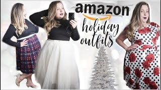 AMAZON HOLIDAY OUTFITS!  | HUGE Plus Size Haul Try On