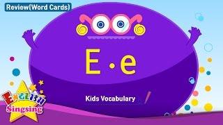 Kids từ vựng biên soạn - Words bắt đầu với E, e 2