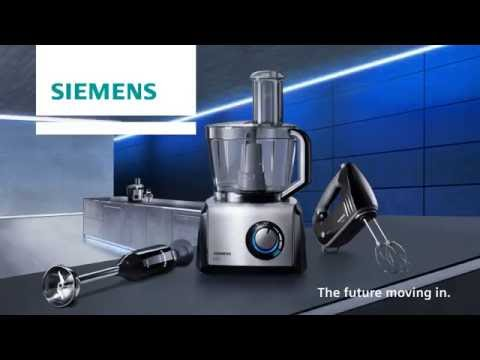 Productfilm Siemens FQ.1 premium food processor with waveCut, whisk and kneading hook