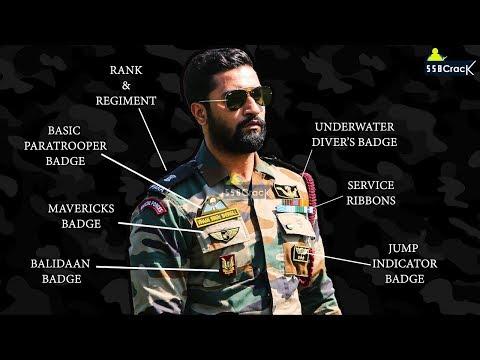 Decoding The Medal and Badges of Major Vihaan Shergill (Vicky Kaushal) PARA SF - URI Movie